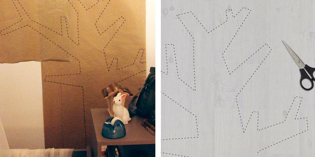 arbre mural en papier peint