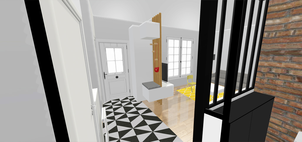 un aménagement de maison années 20 revisitée