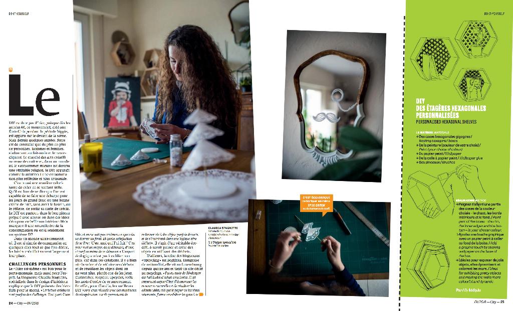 Un chemin de table en dentelle papier DIY - City Mag Luxembourg