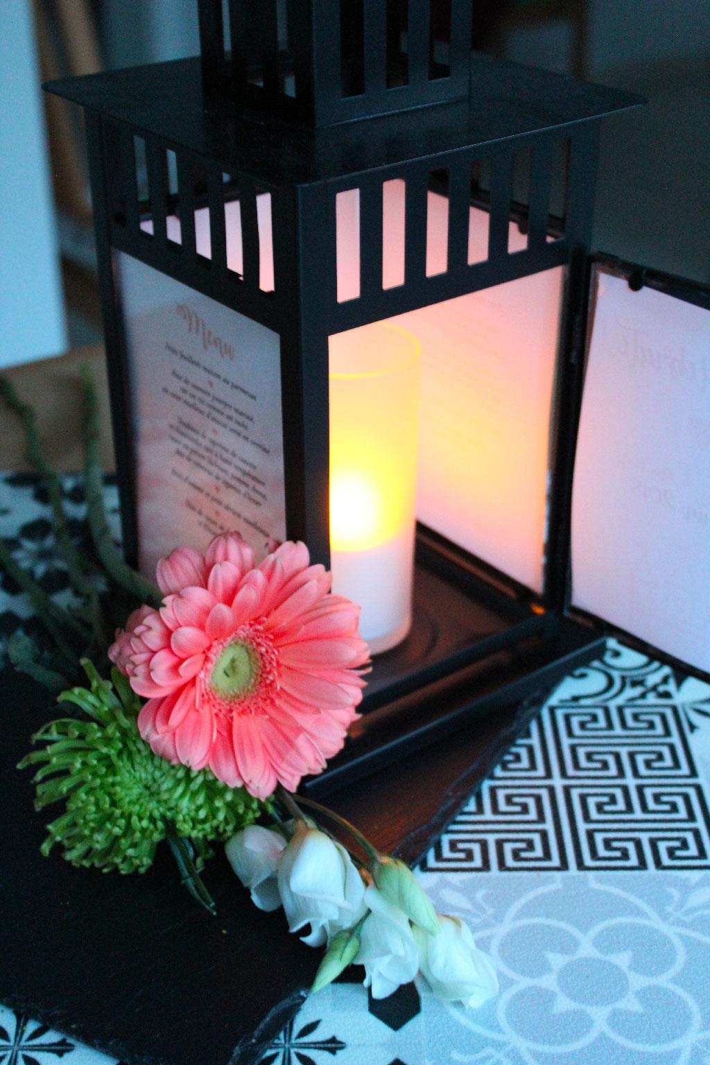 Une lanterne porte menu DIY pour le grand jour !