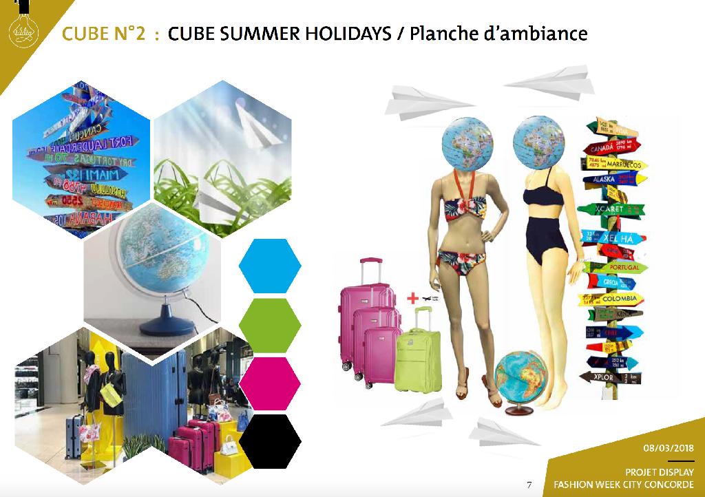 Aménagement et décoration d'espace display Summer Feeling