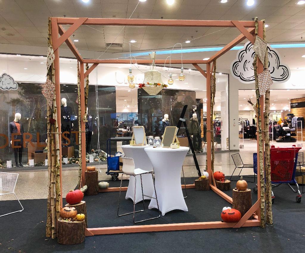 Aménagement et décoration d'espace display Beauty automnal