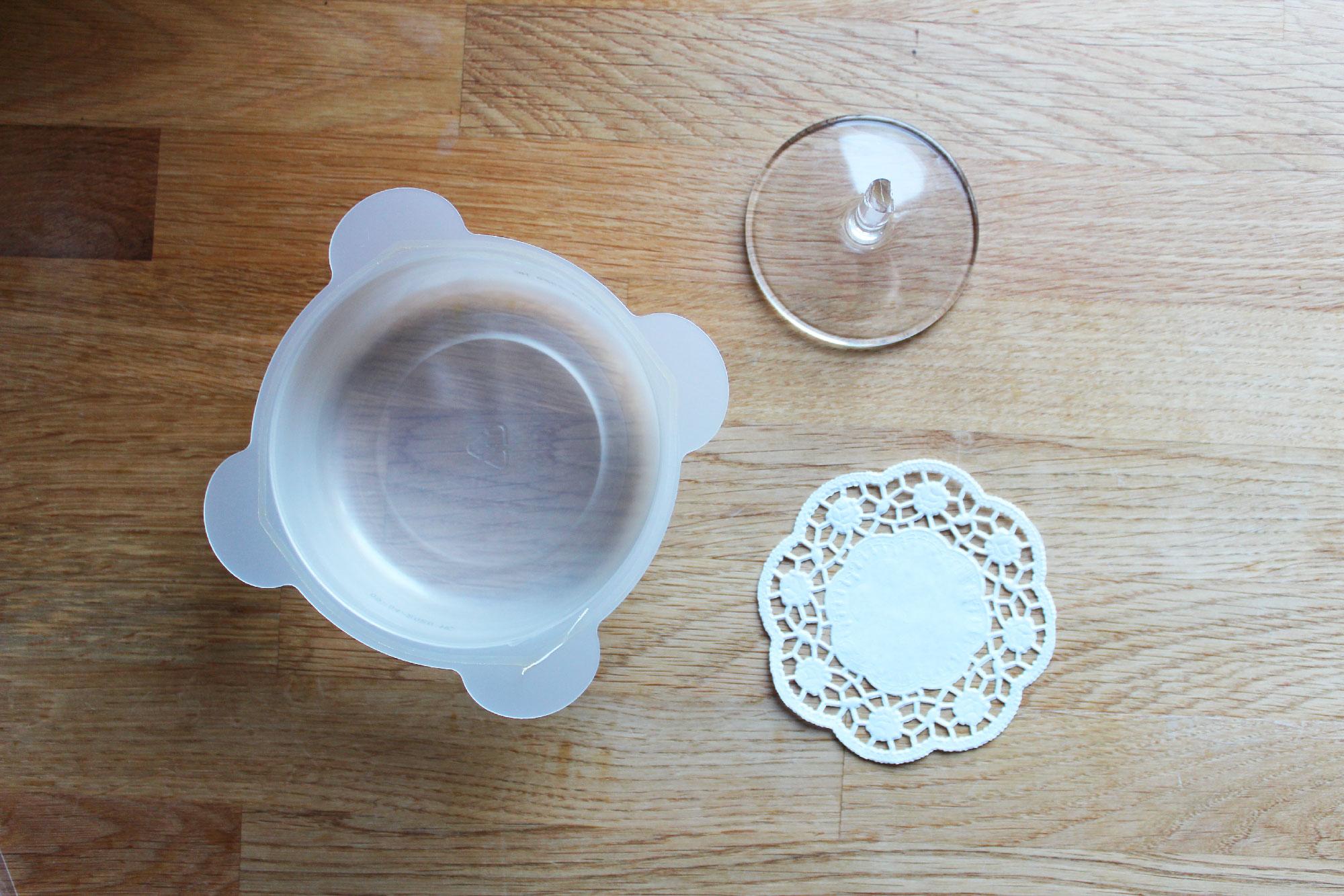 Un porte bijoux en béton et verre recyclé DIY