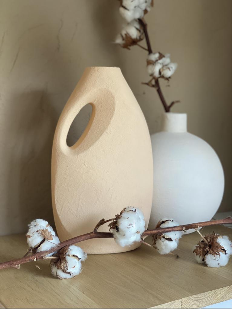 DIY : un vase imitation terracotta en bidon de lessive recyclé
